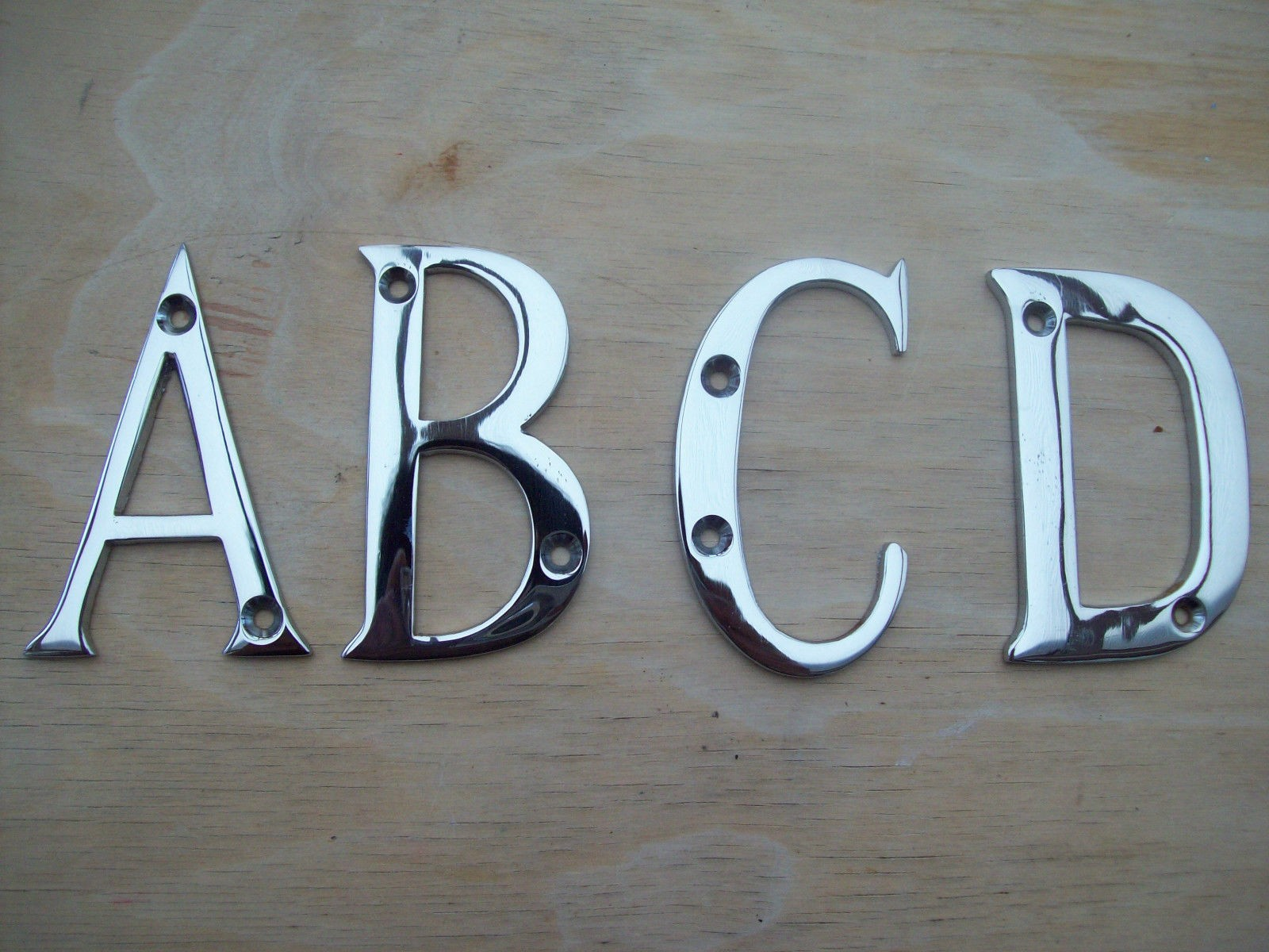 Chrome Plated Door Letters Ironmongery World