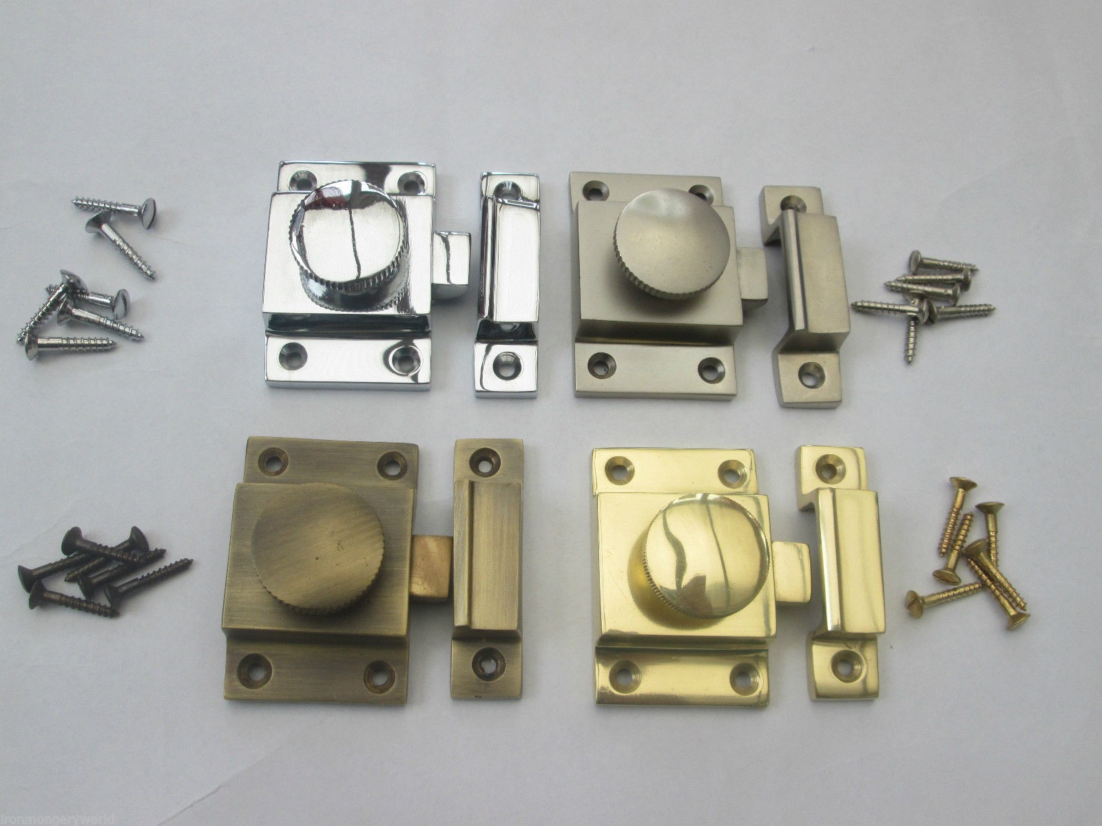 Solid Brass Cabinet Thumb Turn Latch Lock Ironmongery World