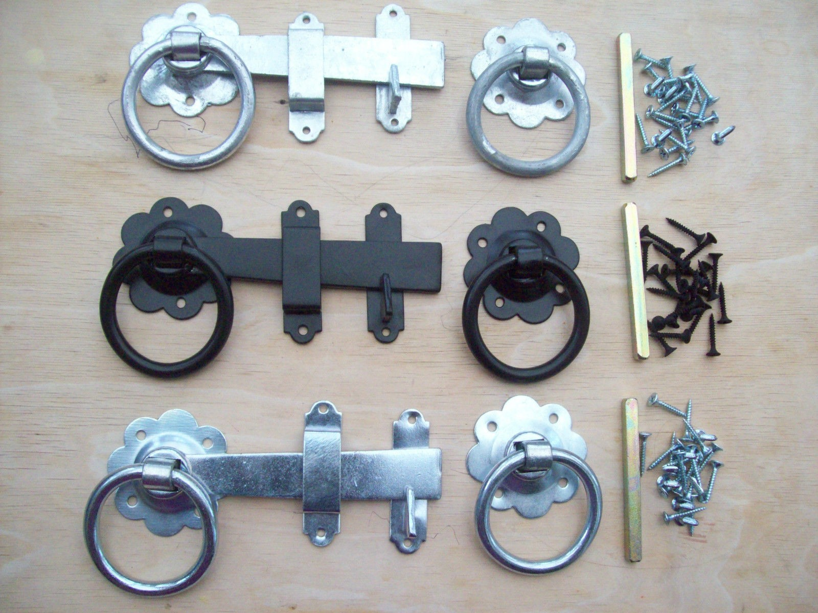 6 Inch Ring Gate Latch Set Ironmongery World