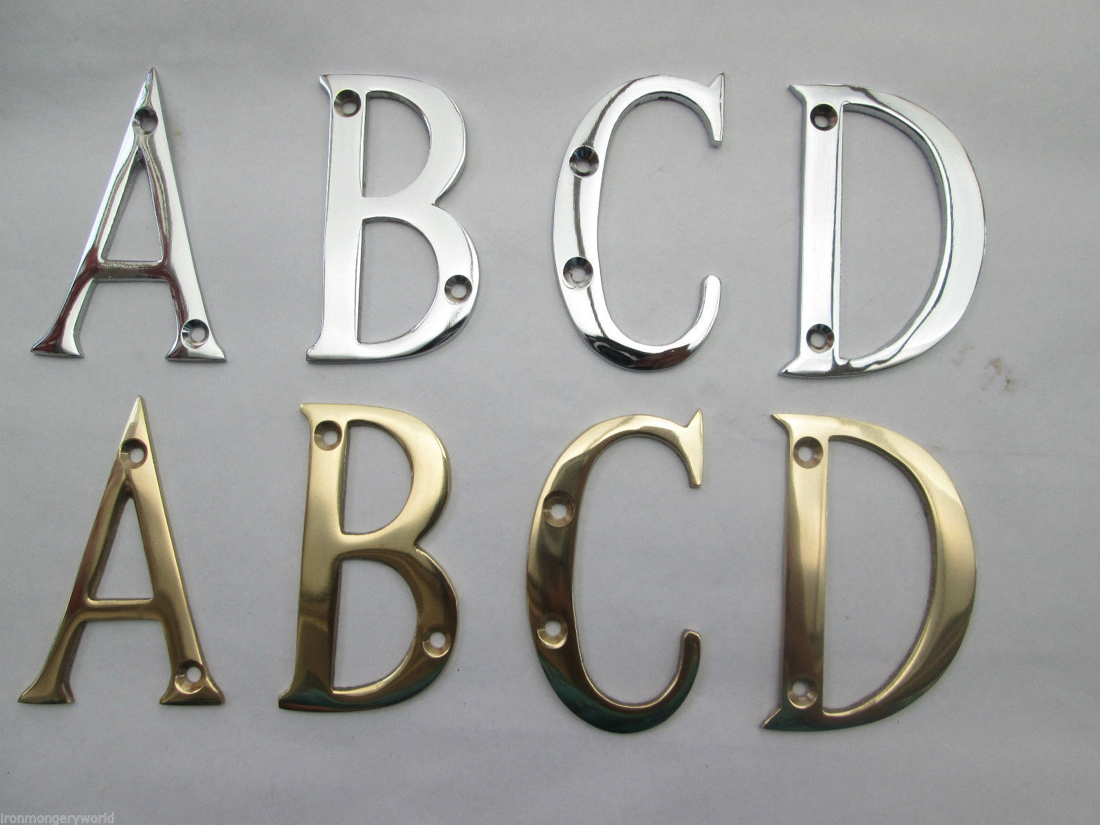 3 Quot Brass Numbers Amp Letters Ironmongery World