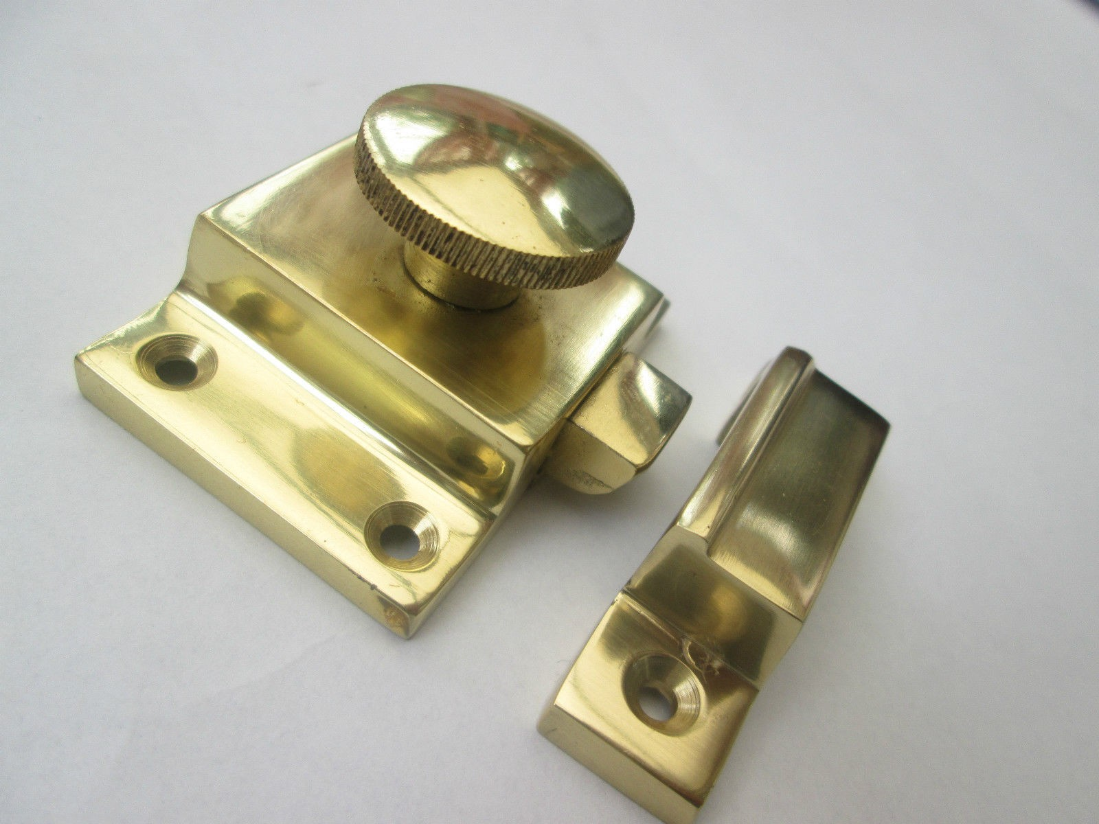 Solid brass cabinet thumb turn latch lock ironmongery world for Door lock latch