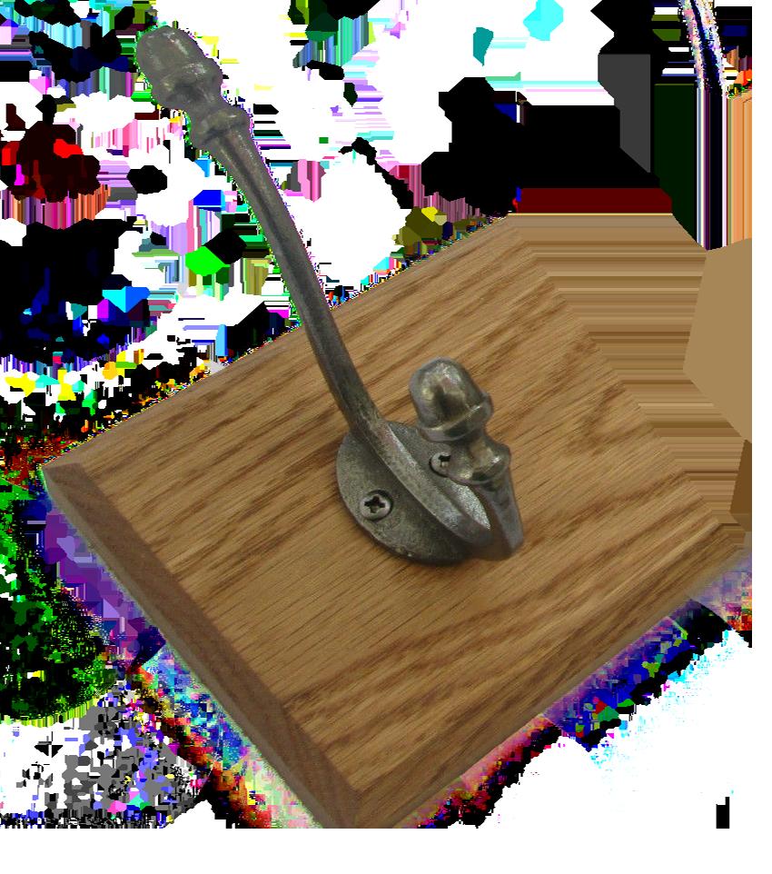 Solid Oak Coat Rack Ironmongery World
