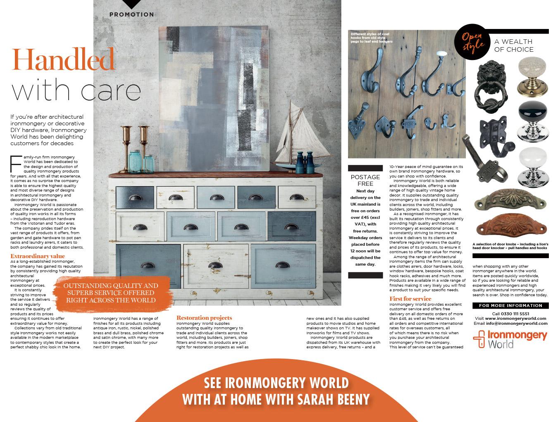 Sarah Beeny At Home - Magazine Article