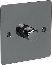 Black Nickel Switch Plate 400w 1 Gang 2 Way