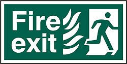 Fire exit signs running man