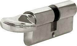 6 Pin Cylinder thumbturn euro lock 35mm Silver