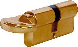6 Pin Cylinder thumbturn euro lock 35mm Brass
