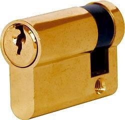 6 Pin Euro Cylinder Lock 45mm Brass