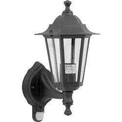Black Lantern Light with PIR Sensor