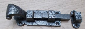 "Antique Iron 4"" Scroll Bolt"