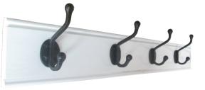 white gloss wood coat rack in 6 sizes of iron hooks