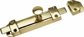 "6"" Surface Door Bolt Polished Brass"
