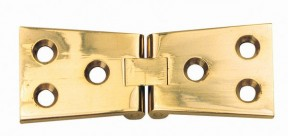 Pair Of Counter Flap Hinges Polished Brass