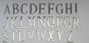 """3"""" Polished Chrome Letter V"""