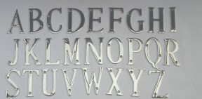 "3"" Polished Chrome Letter W"