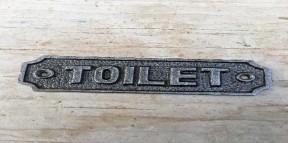 Cast Iron Toilet Plaque