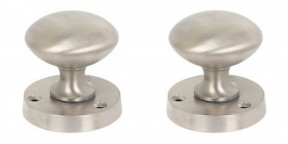 Mortice Door knob Satin Nickel Round Mushroom