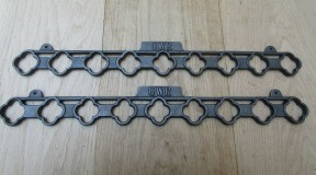Pair Of GWR Vintage Kitchen Creel Pot Pan Brackets Only