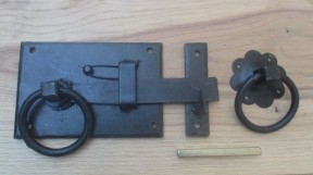 Hand-forged cottage door latch Black Right Handed