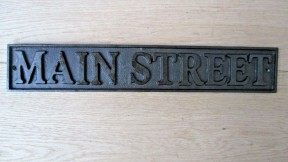 Cast Iron Main Street Plaque