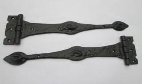 """Pair of 14"""" Arrow hinge Black Antique"""