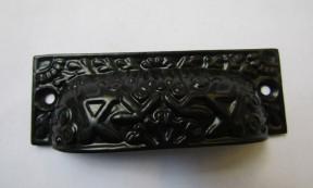 Rectangular Inca Cup handle Black on Iron