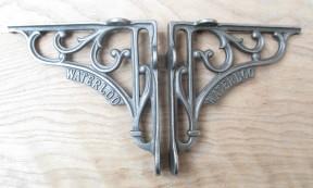 "Pair Of 6"" Waterloo Shelf Brackets Antique Iron"