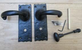 Pair Of Bathroom Lever Merlin Handles Black Antique