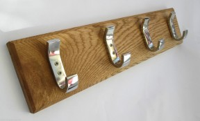 Chrome Hook Coat Rack