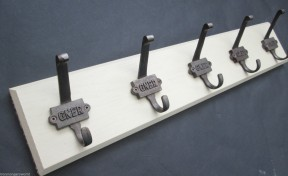 Antique Iron Hook Coat Rack