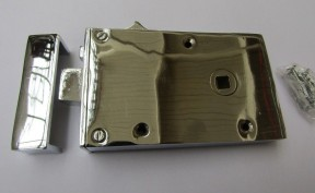 Solid Brass Construction Left Hand Latch Polished Chrome