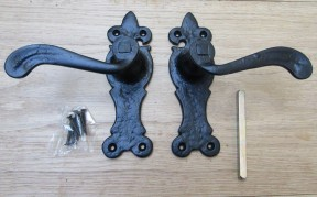 Pair Of Lever Latch Oxford Handles Black Antique