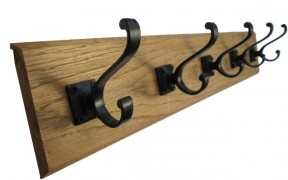 Solid English Oak Coat Rack