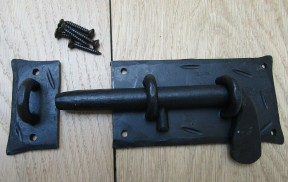 Hand Forged Cottage Slide Bolt Black Wax