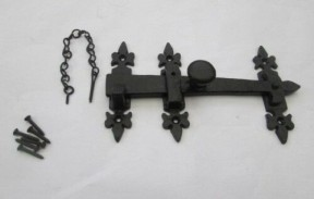 Fleur de lys bar latch Black Antique