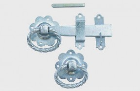 "6"" Zinc Twisted Ring Gate Latch"