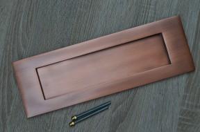 """12"""" Plain Letter Plate Antique Copper"""