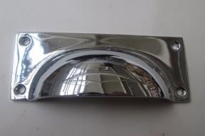 Small Rectangular Cup Handle Polished Chrome