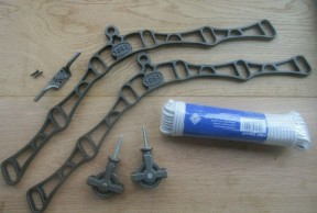 6 Lath 1883 Embossed Antique Iron Clothes Airer Kit Only