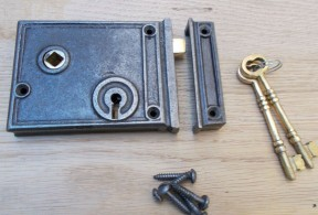 Cast Iron Horizontal Rim Lock
