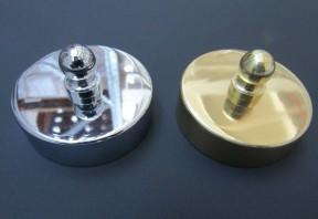 Polished Brass 54mm Large end Cap