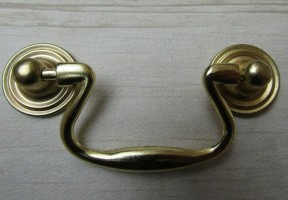 Small Swan Neck Pull Handle Antique Brass