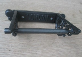 London Scroll Toilet Roll Holder Antique Iron