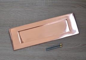 """12"""" Plain Letter Plate Polished Copper/ Rose Gold"""