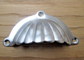 Fluted With Lugs Cup Pull Handle Satin Chrome
