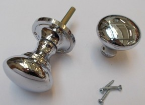Rim Knob set Victorian Polished Chrome