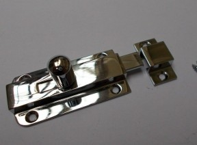 Vintage Small Knob Bolt Polished Chrome