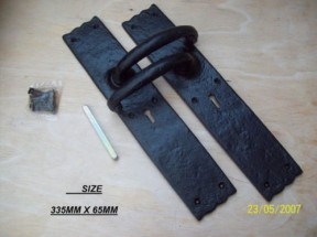 BLACK ANTIQUE HEAVY LEVER LOCK