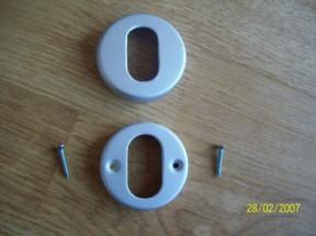 Oval Profile Escutcheon Satin Aluminium