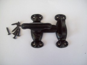 wrought iron black antique catch latch
